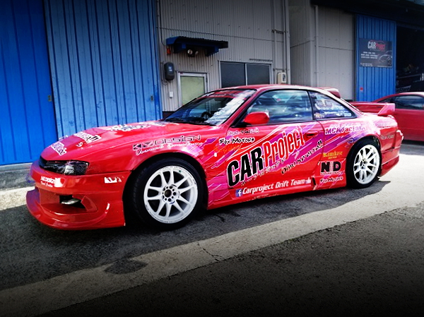 SIDE EXTERIOR DRIFT CAR S14 SILVIA RED