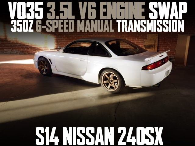 VQ35DE V6 ENGINE S14 240SX WHITE