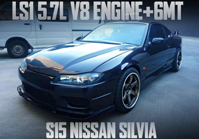 LS1 V8 ENGINE S15 SILVIA BLACK