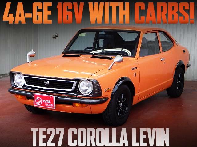 16-VALVE 4AG CARBS TE27 LEVIN