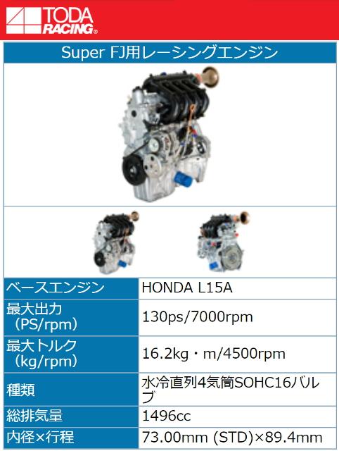 TODA RACING SUPER-FJ L15A ENGINE