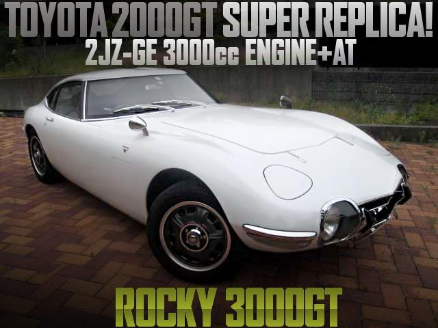 TOYOTA 2000GT REPLICA ROCKY 3000GT WHITE