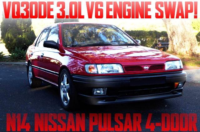 VQ30DE V6 SWAP N14 PULSAR 4-DOOR RED