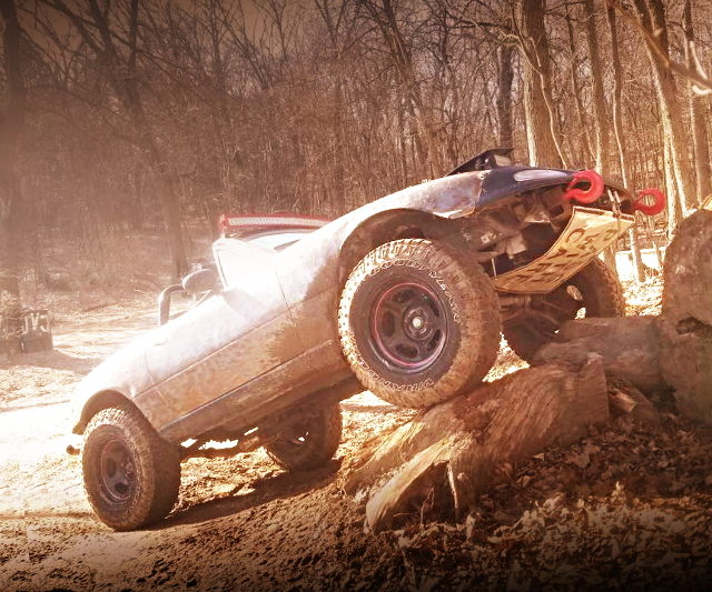 ROCK RUNNING OF LIFTED MIATA