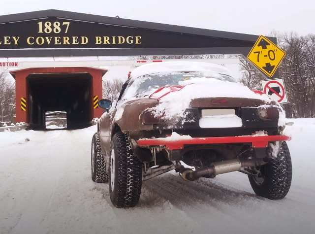 SNOW ROAD GO TO LIFTED MIATA