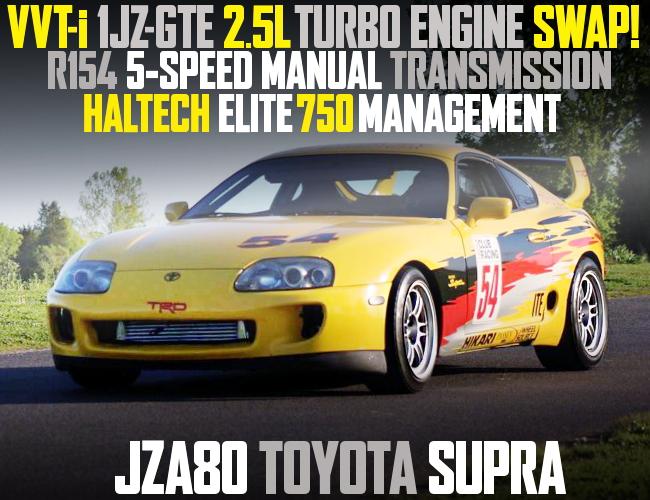 VVTi 1JZ TURBO ENGINE JZA80 SUPRA YELLOW