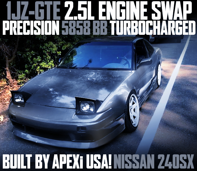 1JZGTE WITH 5858 TURBO S13 240SX GRAY