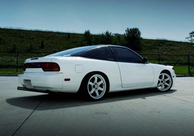 REAR EXTERIOR S13 240SX WHITE