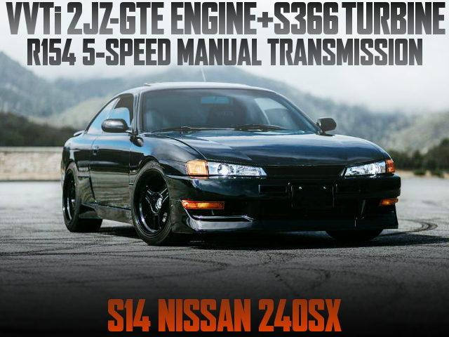 2JZGTE WITH S366 TURBO S14 KOUKI 240SX