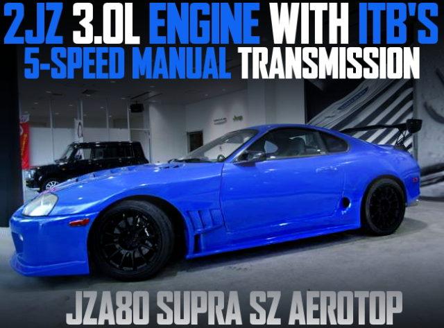 2JZ WITH ITBS JZA80 SUPRA SZ AEROTOP BLUE