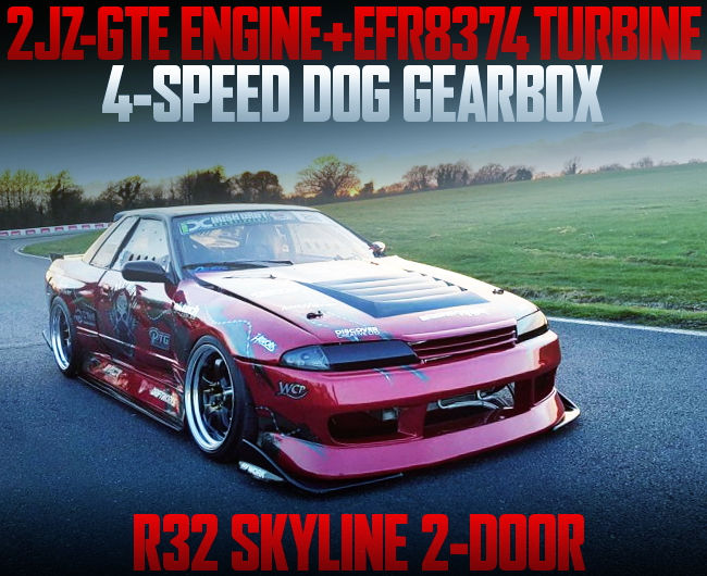 2JZ-GTE ENGINE WITH EFR8374 TURBO R32 SKYLINE 2-DOOR RED