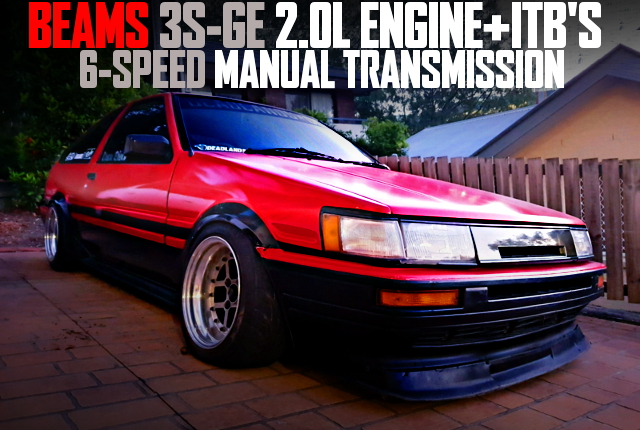 BEAMS 3SGE ITB AE86 LEVIN RED