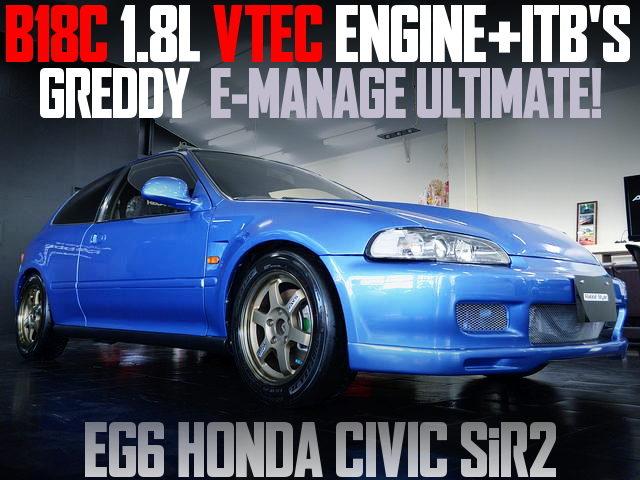 B18C ITBS EG6 CIVIC SIR2 BLUE