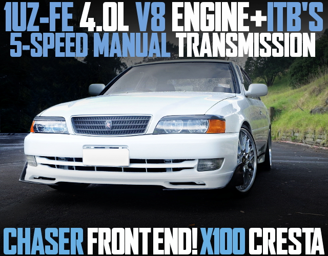 1UZ V8 WITH ITBS JZX100 CRESTA WHITE
