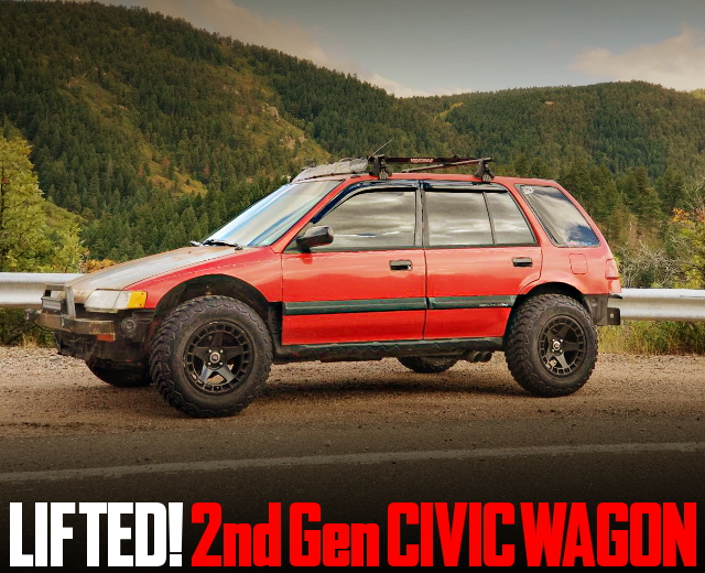 LIFTED 2nd Gen CIVIC WAGON RED