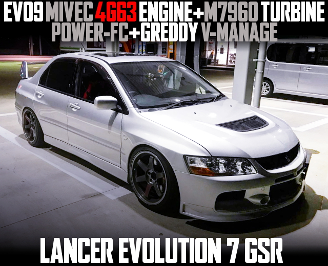 MIVEC 4G63T WITH M7960 TURBO EVO7 GSR SILVER