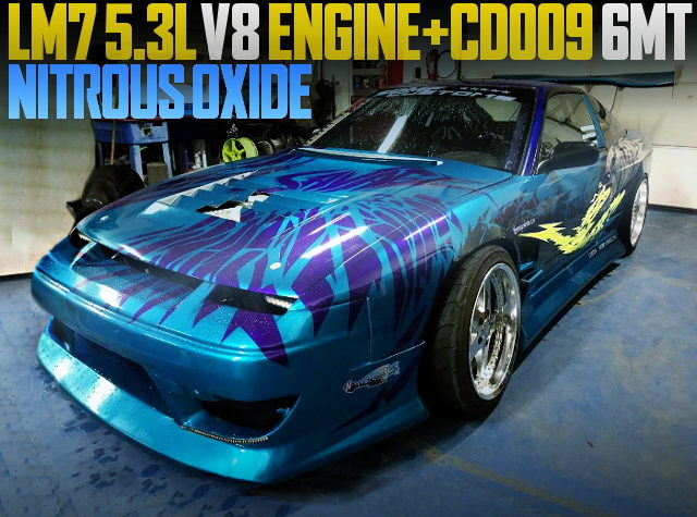 LM7 V8 ENGINE WITH NOS S13 240SX HATCH