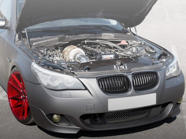 HOOD OPEN E60 BMW 5-SERIES