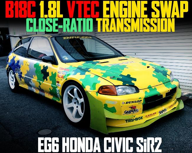 B18C VTEC SWAP WIDEBODY EG6 CIVIC SIR2
