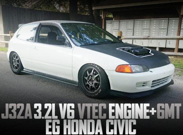 J32A V6 VTEC SWAP EG CIVIC HATCH