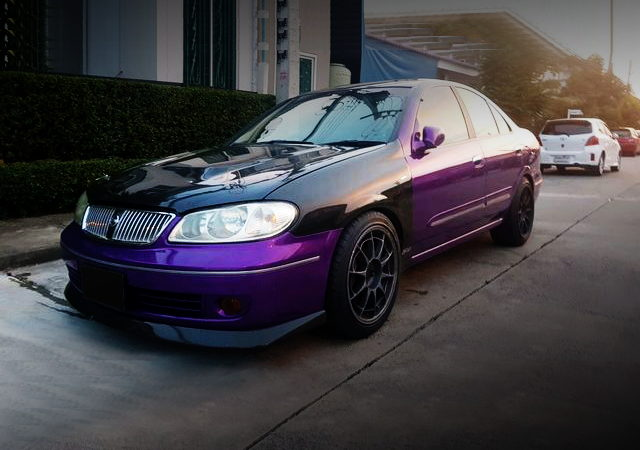 FRONT FACE G10 NISSAN SUNNY NEO PURPLE