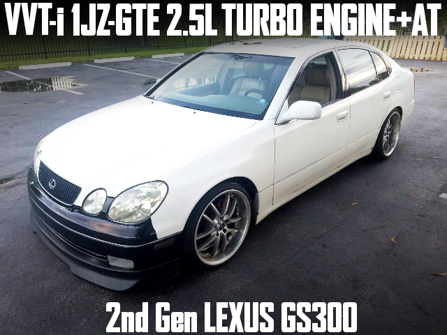 VVTi 1JZ TURBO ENGINE 2nd Gen LEXUS GS300 WHITE