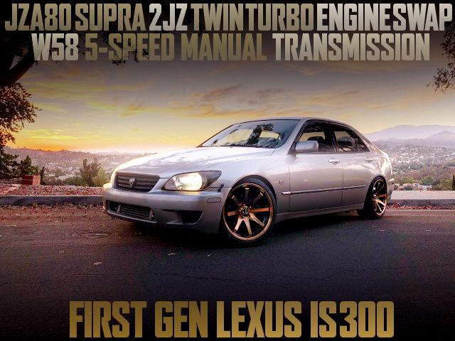 SUPRA 2JZ-GTE ENGINE SWAP 1ST GEN LEXUS IS300