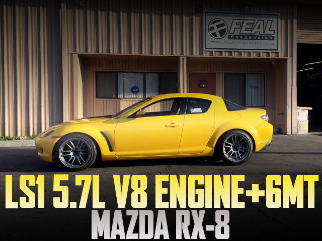 LS1 V8 ENGINE RX8 YELLOW