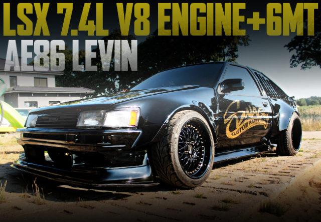 LSX V8 ENGINE AE86 LEVIN BLACK