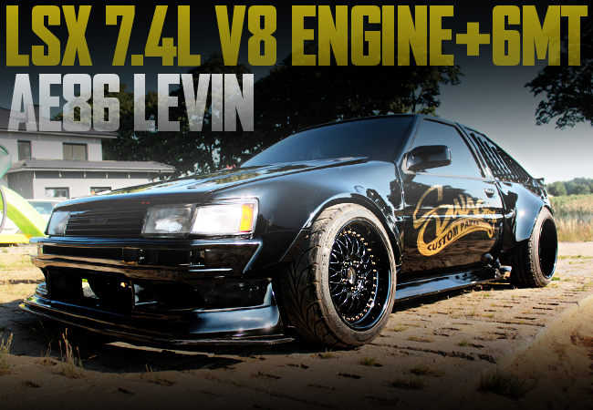 LSX V8 ENGINE AE86 LEVIN BLACK