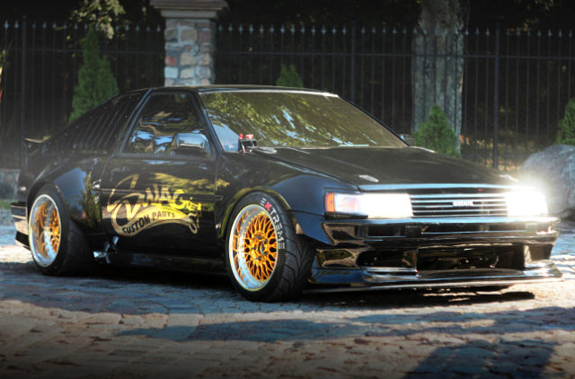 FRONT RIGHT SIDE EXTERIOR AE86 LEVIN