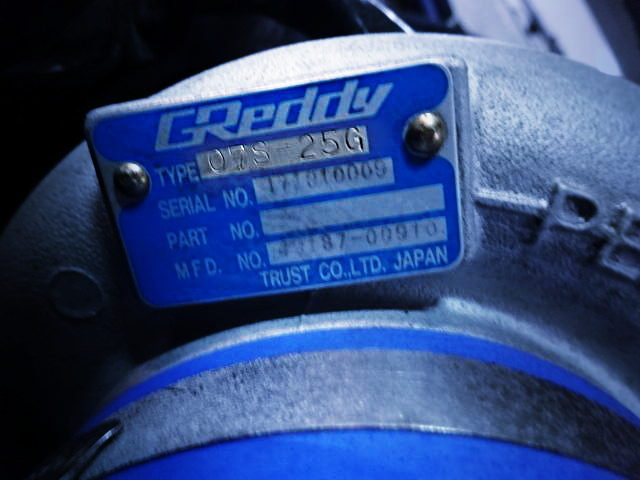 GREDDY TURBOCHARGER SERIAL PLATE