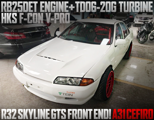 R32 SKYLINE FRONT END A31 CEFIRO WHITE