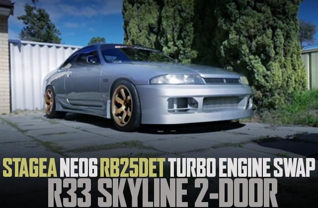 NEO6 RB25DET TURBO ENGINE R33 SKYLINE 2DOOR