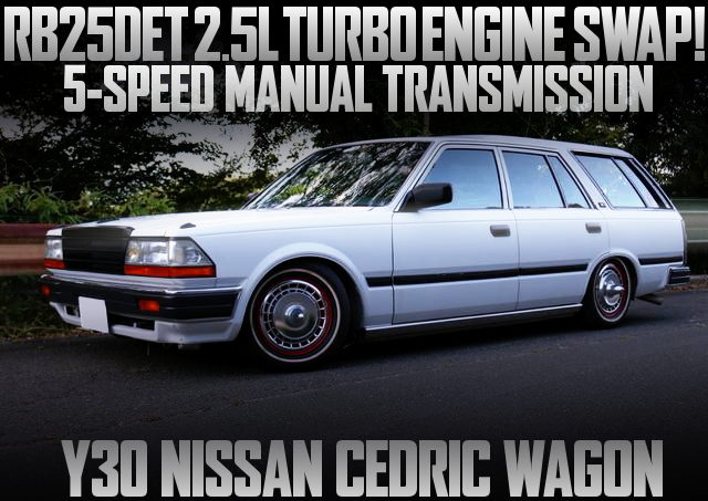 RB25DET TURBO Y30 CEDRIC WAGON WHITE