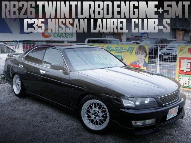 RB26 TWINTURBO ENGINE C35 LAUREL