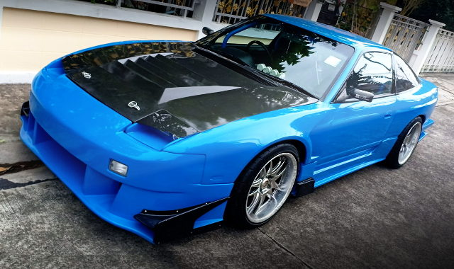 FRONT EXTERIOR S13 NISSAN 200SX LIGHT BLUE