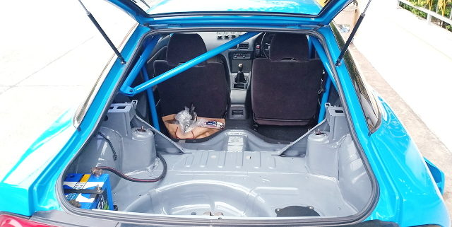 S13 200SX REAR INTERIOR