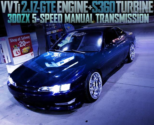 2JZ-GTE SINGLE TURBO S14 KOUKI 240SX BLUE