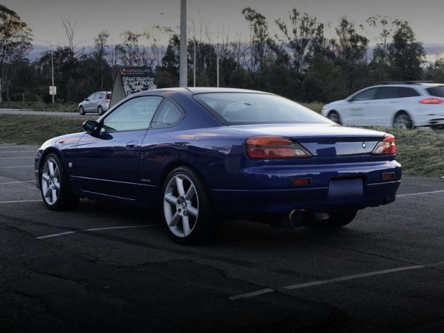 REAR EXTERIOR S15 200SX BLUE