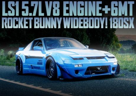 LS1 V8 ENGINE 6MT ROCKET BUNNY 180SX