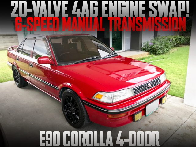 20-VALVE 4AG WITH 6MT E90 COROLLA 4-DOOR RED