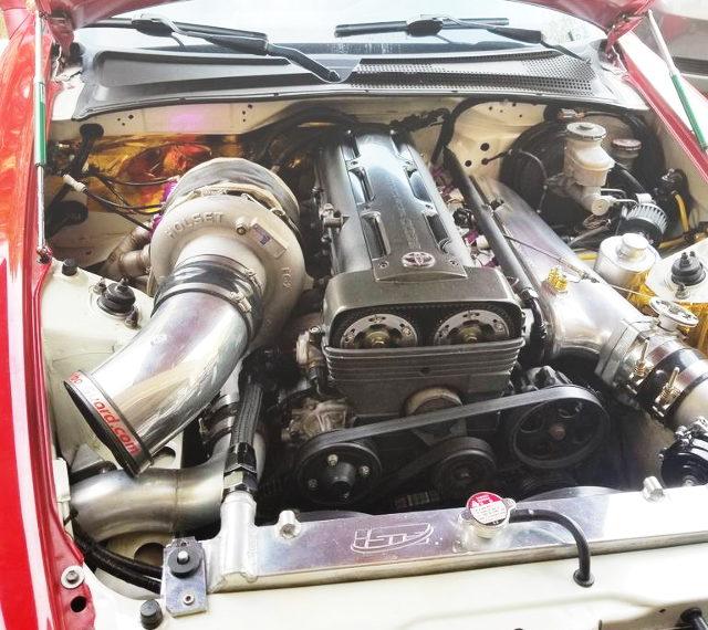 2JZ-GTE ENGINE WITH HOLSET SINGLE TURBO