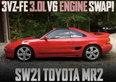 3VZ V6 ENGINE SWAP SW21 MR2 RED