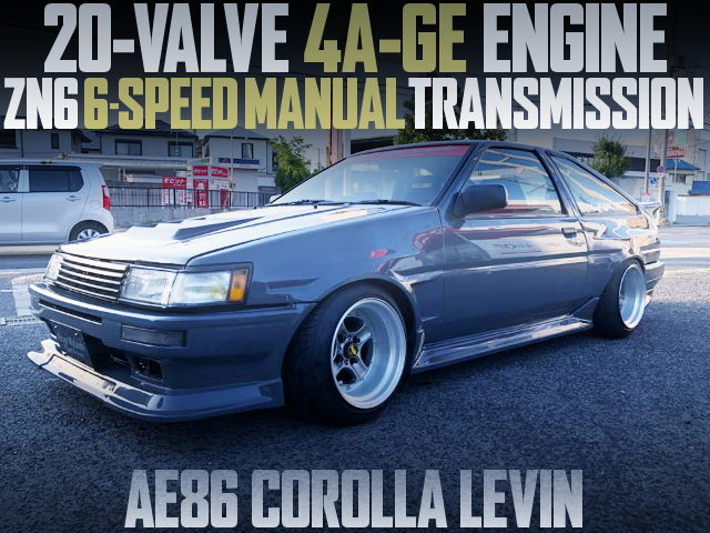 20-VALVE 4AG 6-SPEED AE86 LEVIN GRAY