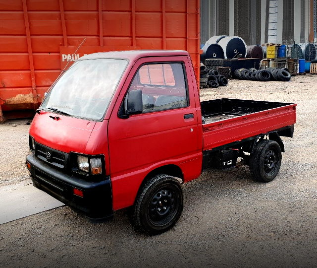 FRONT EXTERIOR RED HIJET TRUCK