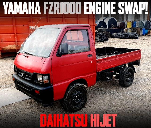 FZR1000 BIKE ENGINE SWAP HIJET TRUCK