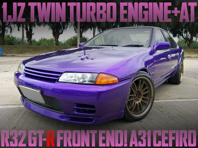 R32GTR FRONT END A31 CEFIRO PURPLE