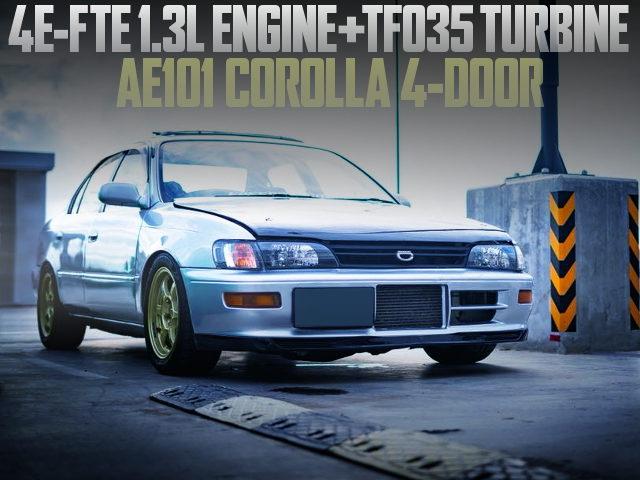 4E-FTE ENGINE TH035 TURBO AE101 COROLLA SEDAN