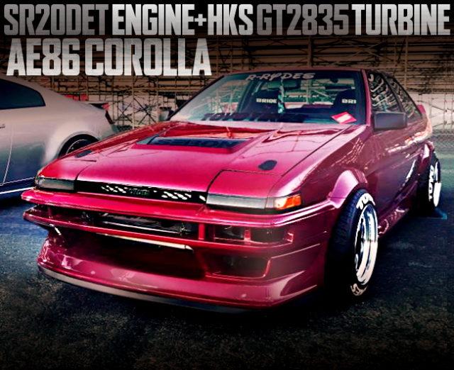 SR20DET GT2835 TURBO AE86 COROLLA